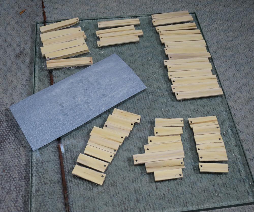 ナンテンによる櫛の製作:パーツ接合面の仕上げ