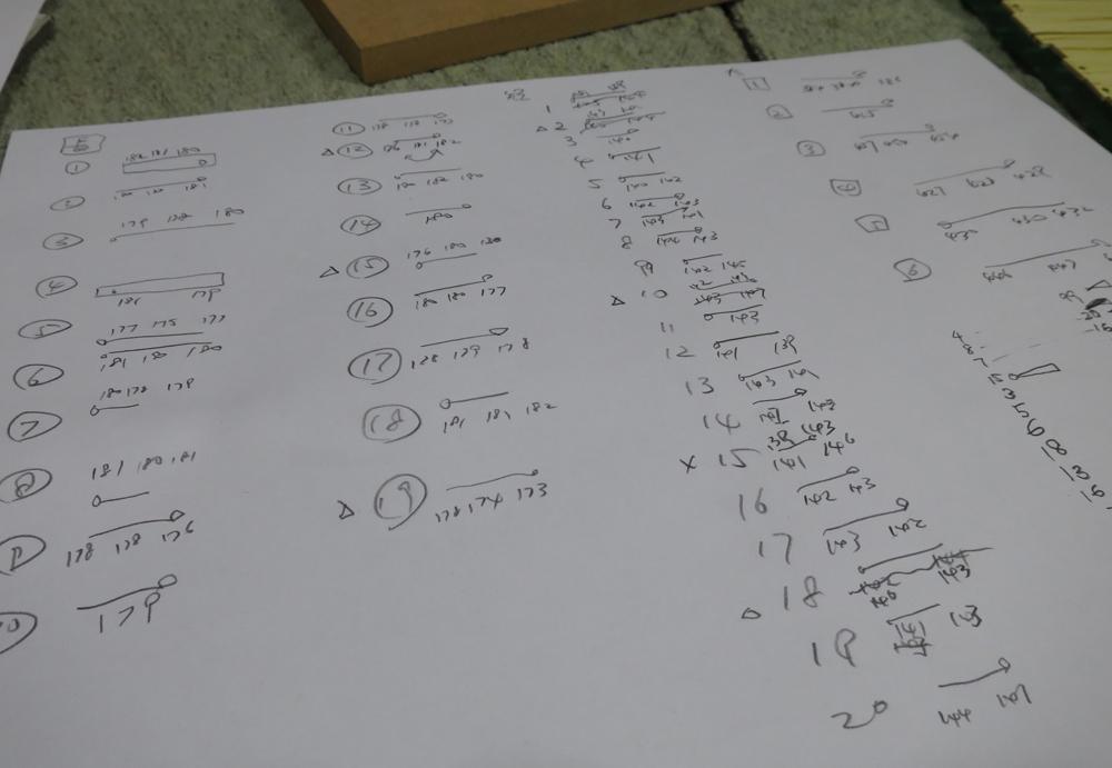 ナンテンによる櫛の製作:各パーツの測定と組み合わせ決定